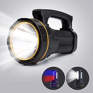 Super Bright Handheld Searchlight USB Rechargeable Large 4 Batteries 10000mah Powerful Cree LED Spotlight Flashlight High ...