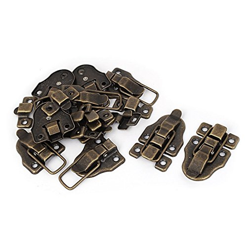 Bluesky 10PCS Bronze Tone Retro Style Metal Duckbilled Box Hasp Lock Toggle Latch Catch for Wooden Case Boxes