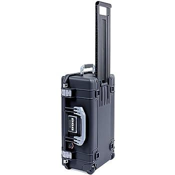 Black Pelican 1535 Air case with Silver Handle & latches. No Foam - Empty.