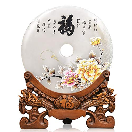 NYKK Wealth Prosperity Statue Ping'an Buckle Ornaments Lucky Move New Home Gift Office Home Living Room Wine Cabinet Decoration Ornaments Decor Feng Shui