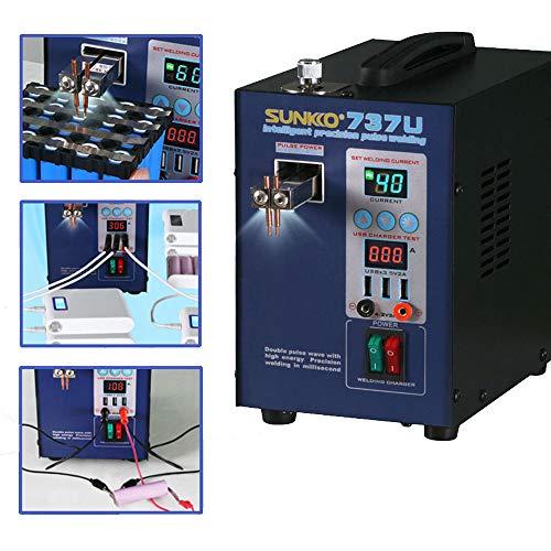 Hanchen Spot Welder 2,8 kW Doppel-Pulse Akku Spot Schweißgerät Schweißstift für USB Aufladung 18650 Akkupack CE zertifiziert