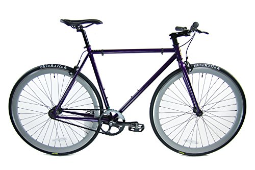 Review Of Loco Cycles Chromoly Fixed Gear Single Speed Urban Fixie Road Bike (The Purplicious - Purp...