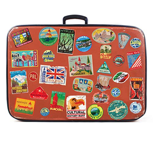 Luggage stickers 31x suitcase patches vintage travel labels retro vintage graffiti iphone car stickerbomb style vinyl decals door skateboard cafe