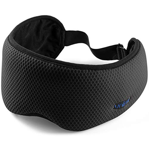 Neuartige Schlafmaske Augenmaske für Frauen und Männer, Reise Augenmaske & Augenbinde mit Aufbewahrungstasche, 100% lichtblockierende Schlafmaske mit abnehmbarem Gurt für Reisen, Nickerchen