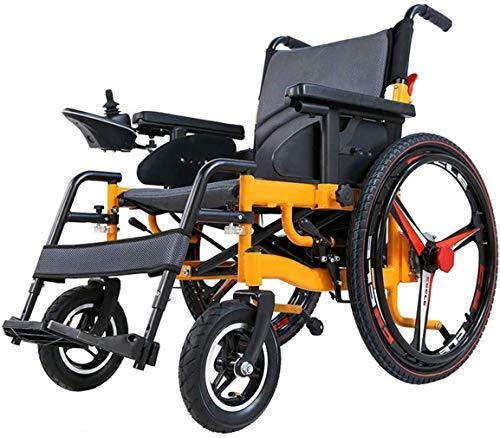 Intelligenter Elektrorollstuhl - Tragbares, faltbares, leichtes Mobilitätsgerät mit Zwei Elektromotoren oder Verwendung als manueller Rollstuhl