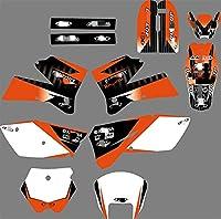 Fyjhunann PJDSTカスタマイズ3MオートバイデカールステッカーグラフィックグラフィックデカールキットKTM SX 2005 2006 hnfyj (Color : 9)
