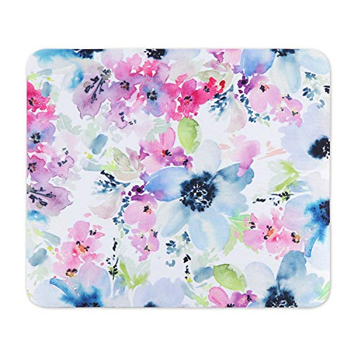 Artiron Mouse Pad, Rectangle Customized Gaming Mouse Mat Non-Slip Cute Mouse Pads with Funny Art Design for Computers Laptop, Ideal Partner for Working or Game 7.9x9.5inch (Watercolor Flower)