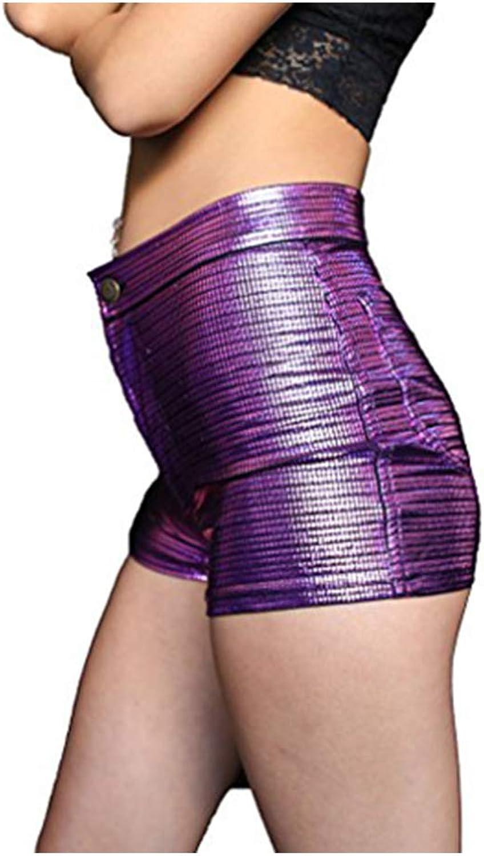 High Waisted Women's Electro Disco Shorts