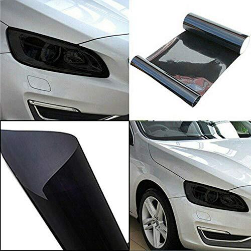 Scheinwerfer Folie Dunkel Schwarz 100x30cm Tönungsfolie Tiefschwarz Nebelscheinwerfer Rückleuchten Vorderleuchten (11€ pro m²)