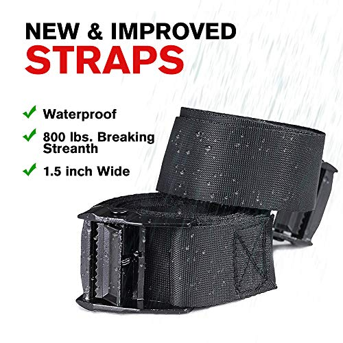 Car Roof Bag Bundle- 100% Waterproof Roof Top Cargo Bag NO RACK NEEDED + Non Slip Roof Mat & Storage bag, For Any Car Van or SUV (15 Cubic Feet)