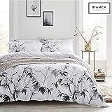 Bianca Kyoto Set Copripiumino, Cotone, White/Grey, King
