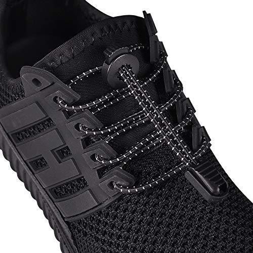HYFAM Elastische Sport-Schnürsenkel, Gummi Schnellschnürsystem, Geeignet für Kinder/Erwachsene, für sneaker boots board shoes und casual shoes