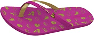 Ipanema Mix Charm Kids Flip Flops/Sandals - Dark Pink Gold