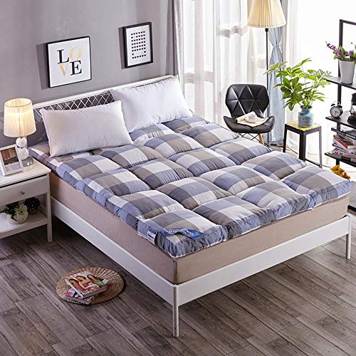 Double Single Floor Mattress Japanese,Student Dormitory Folding Mattress,futon Floor Mattress, Breathable Soft Comfortable for Living Room Dormitory Camping,C,King