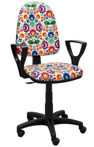 Lo mejor para los niños silla de escritorio de la juventud silla de oficina de los niños silla giratoria Fórmula 1 F1 Motor Princesa Niña de Fútbol (BRED Folk 1)