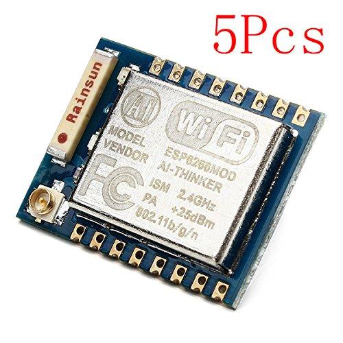 ILS - 5 Stück Esp8266 ESP-07 Fern Serial Port WiFi Transceiver Wireless-Modul