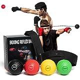 HONGTEYA - Palline da boxe, per boxe, 4 pezzi, adatte per adulti e bambini e adulti, regolabile, per velocità di reazione, velocità di punzonatura e coordinamento degli occhi