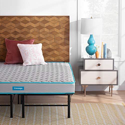 Linenspa 6-Inch Innerspring Mattress - Twin XL + 14-Inch Folding Platform Bed Frame