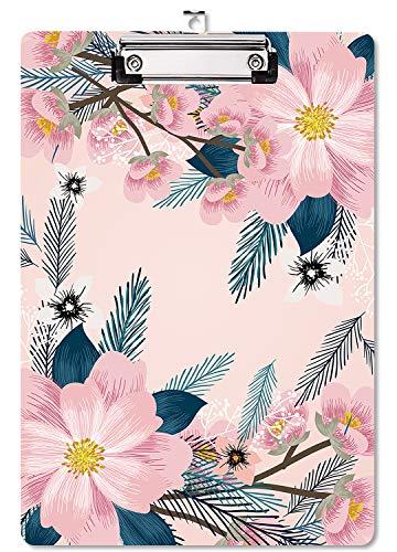 Cartella degli appunti con clip, Portablocchi Rigido A4 Decorativo per Infermiere, Ufficio, Scuola, Studenti(Rosa)