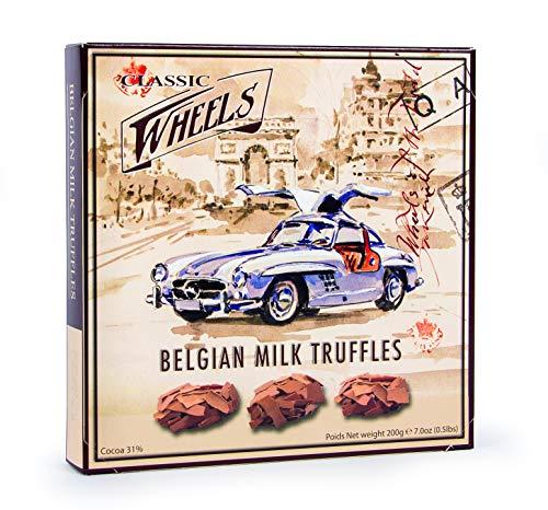 Classic Wheels Milk Truffles, Borkentrüffel, Milchschokolade, 200 gramm