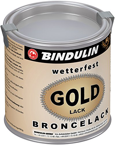 Bindulin Goldlack wetterfest Metallfarbe (250 ml)