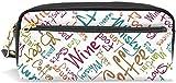 Monedero Invierno Alfabeto inglés Estuche de lápices papelería Bolsa de cosméticos Billetera Gran Capacidad Impermeable Mujeres