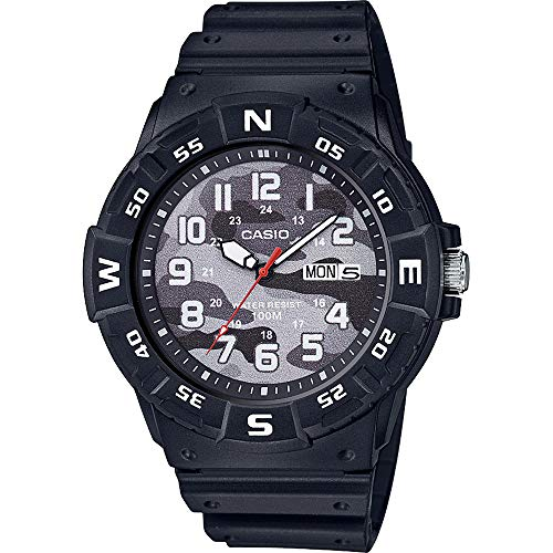 Casio Reloj Analógico para Hombre de Cuarzo con Correa en Resina MRW-220HCM-1BVEF