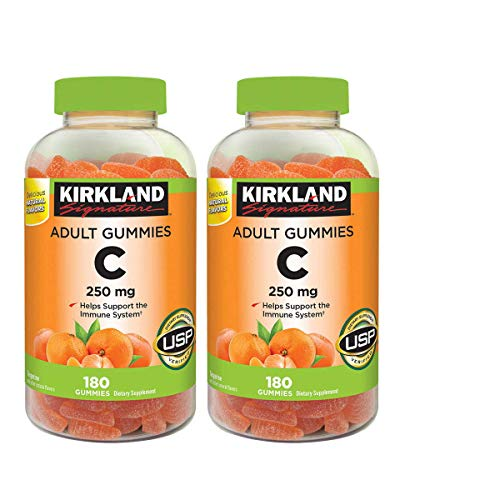 Kirkland Signature AMdFqz Vitamin C 250 mg., 180 Adult Gummies (4 Pack)