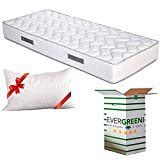 EVERGREENWEB Materasso Singolo 80x190 in Waterfoam Alto 20cm con Cuscino Memory Foam Ortop...