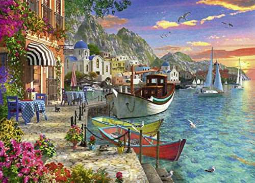 Ravensburger Grandiose Greece 15271 1000 Piece Puzzle for Adults, Every Piece is Unique, Softclick Technology Means Pieces Fit Together Perfectly Multi, 27' x 20'