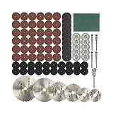 88 unids Discos de corte de diamante lijado Rueda Rueda Circular Sierra Hoja de madera Metal Herramienta Rotary Accesorios