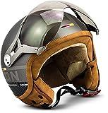 "Soxon® SP-325 Plus ""Titanium"" · Jet-Helm · Motorrad-Helm Roller-Helm Scooter-Helm Moped..."