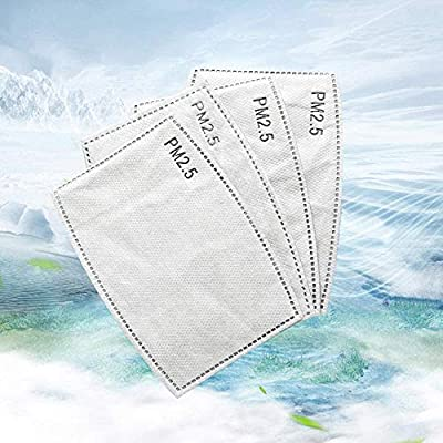 20PACK PM 2.5 Activated Carbon Filter Replacement for Breathing Insert Protective Mask Anti Pollution Washable Cotton for Adult Outdoor Activities
