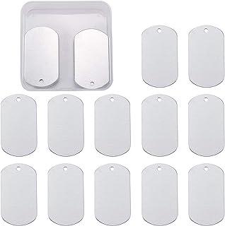 BENECREAT 30 PCS Ciondolo Vuoto in Bianco con ciondoli in Alluminio per Etichetta Pendente Ciondolo orecchino per Cane - 2...