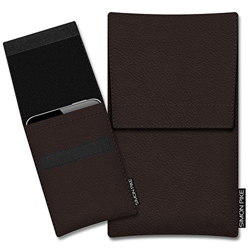 SIMON PIKE Hülle Tasche kompatibel mit Microsoft Surface Duo | Ledertasche Sidney in 01 braun aus Leder Handyhülle