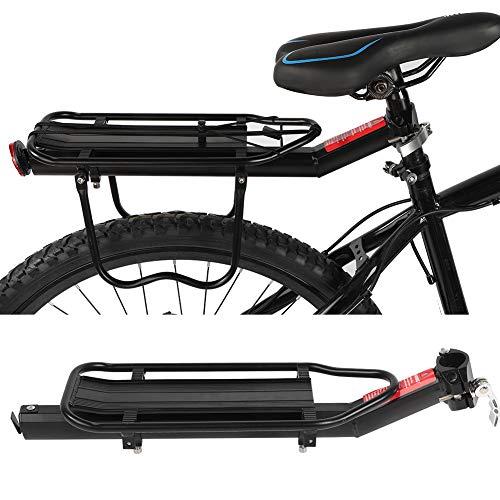 Gepäckträger hinten verstellbar, Fahrrad hinten, Ablage mit Reflektor, Fahrradträger aus Aluminiumlegierung