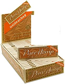 6 Pure Hemp Unbleached Brown 1 1/4 Natural Gum Cigarette Rolling Papers Packs (50 Leaves/pack) + Beamer Smoke Sticker. For Legal Smoking Herbs, Rolling Tobacco, Cones, Herbal Mixes, Rollers, Injector