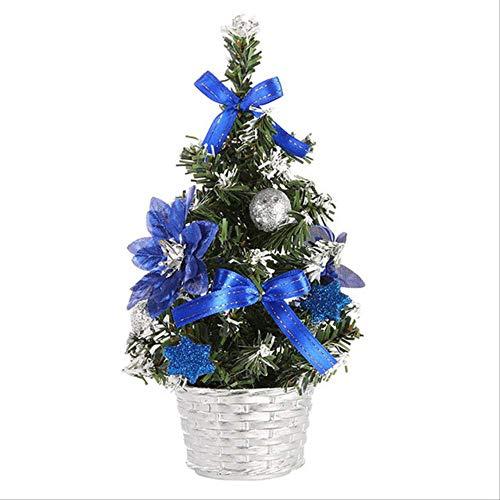 WARRT Arbol de Navidad Tablero Mini Árbol De Navidad Decoraciones Festival Miniatura Árbol Árbol De Navidad Santa Azul
