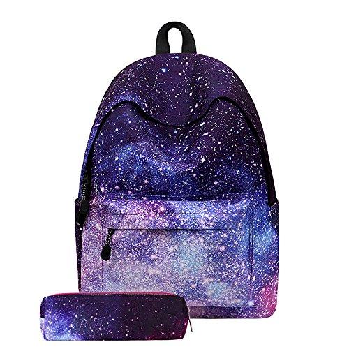 zaino scuola media superiore studenti casual + Astuccio - beautyjourney zaini per scuola ragazza ragazzi adolescenti tumblr medie superiore backpack - Borse scuola adolescenti zaino