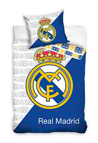 RealMadrid Carbotex - Housse DE Couette Real DE Madrid Logo