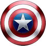 Avengers Escudo De Marvel Capitán América Metal Versión De Película 1: 1 Copia 75 Aniversario Escudo Barra De Juego De rol De Mano Decoración para Colgar En La Pared 18.7in/47.5CM