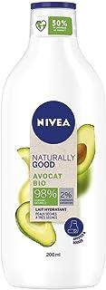 NIVEA NATURALLY GOOD Lait corporel réconfortant Avocat (1 x 200 ml), lait hydratant avec 98% d'ingrédients d'origine natur...