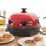 MODEZVOUS Four à Pizza électrique de Table - Four Minipizza 5 Personnes - Faible Consommation - Pizza Party