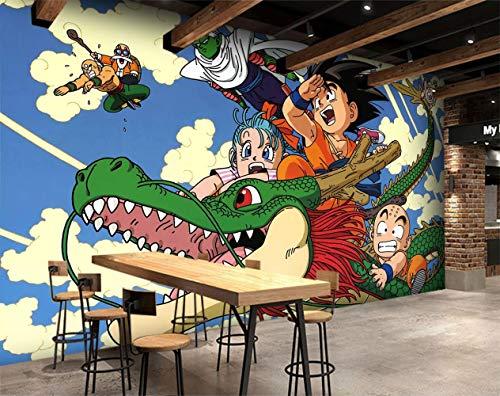3D tela de seda Dragon Ball Japón Anime pared Papel tapiz mural pared pegatina pared murales-200X150cm(WxH)