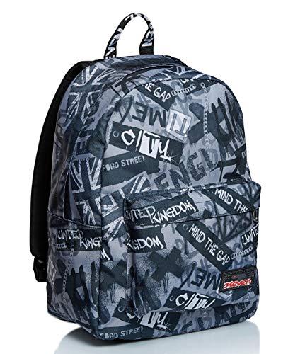 ISchoolPack Seven, Keep Flag, Nero, con Power Bank integrato! Scuola e Tempo Libero