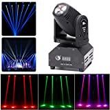UKing LED Moving Head Disco Lights RGBW 4 in 1 Stage Lighting 11/13 Channel by DMX 512 Sound Activated Great...