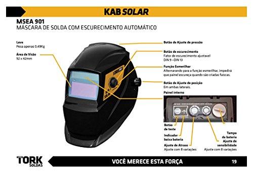 Máscara De Solda Escurecimento Automático super tork