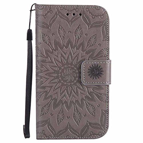 Galaxy S4 Case, Dfly Premium Soft PU Leather Embossed Mandala Design...