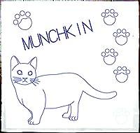 刺し子 猫 マンチカン