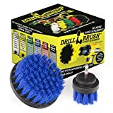 Drill Brush - Scrub Brush - Drill Brush Attachment - Cleaning Brush for Drill - Drill Brush Power Scrubber - Drill Brush Set - Boat Accessories - Hull Cleaner - Boat - Kayak - Canoe - Carpet Cleaner